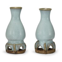 310. a pair of small junyao blue-glazed vases jin – yuan dynasty