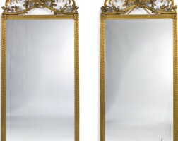 4. a pair of italian neoclassical style carved giltwood mirrors