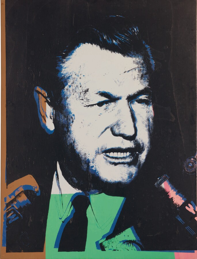 Andy Warhol, Nelson Rockefeller, executed in 1967. Estimate $800,000–1,200,000.