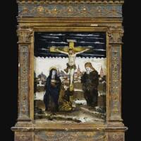 11. la vierge et saint jean au pied de la croix, venise, xvie siècle