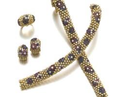 1. gem set and diamond parure, 'couscous', van cleef & arpels