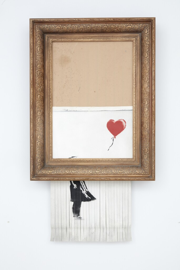 Banksy, Love is in the Bin, 2018