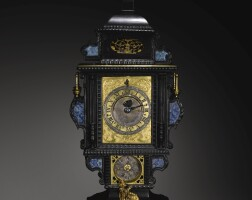 3. arenaissance ebony, lapis lazuli and gilt-mounted astronomical monstrance table clock with cross-beat escapement, caspar buschmann ii, augsburg, circa 1590 |