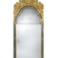 17. a queen anne giltwood and bevelled glass pier mirror circa 1710