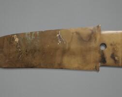 60. grande lame cérémonielle en jade, ge dynastie shang, ca. 1300 avant j.-c.