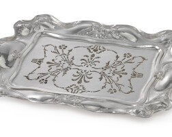 30. an american silver art nouveau asparagus dish and liner, martelé, gorham mfg. co., providence, ri, 1904  