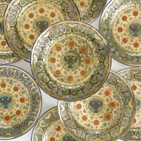 62. a set of ten russian dessert plates from the kremlin service, imperial porcelain manufactory, st. petersburg, period of nicholas i (1825-1855)