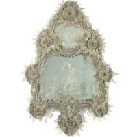 18. an italian white glass mirror, venice, 19th century