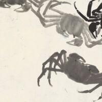 1204. 齊白石 蟹 | 水墨紙本 鏡框 一九二四年作