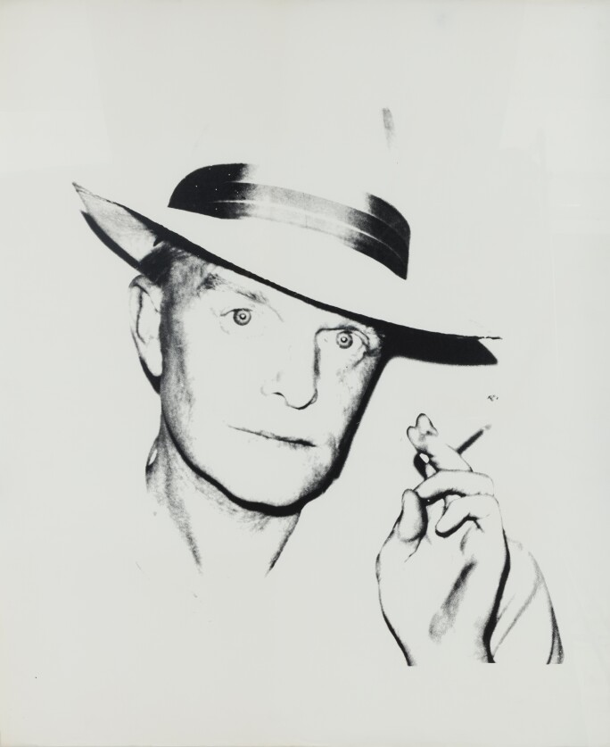 Truman Capote, circa 1979, de Andy Warhol, anunciado por US$ 100 mil, na página da Kasmin Gallery, dentro da
