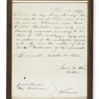 25. ketubbah, written by isaac mayer wise, cincinnati: october 21, 1872