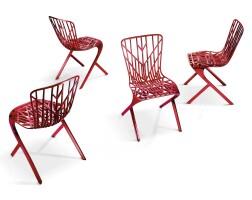10. sir david adjaye | washington skeleton™(red) side chair [set of four]