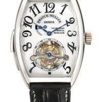 125. franck muller | a fine white gold tonneau-form minute repeating tourbillon wristwatchref6850 rmt no 06 imperial tourbillon minute repeater circa1998