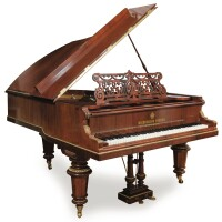 14. a mahogany, rosewood and ebonyboudoir grand piano by diederichs freres st. petersbourg, circa 1900 |