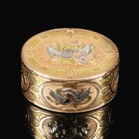 49. a four colours gold snuff box, jean formey, paris, 1757 |