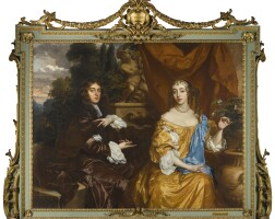 18. sir peter lely | double portrait ofhenry hyde, viscount cornbury, later 2nd earl of clarendon (1688–1709)and his wife, theodosia capel, viscountess cornbury