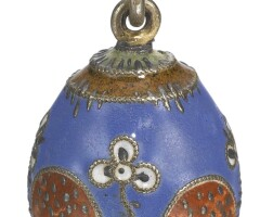 436. a cloisonné enamel egg pendant, possibly 11th artel, moscow, circa 1910-1915