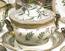 392. a royal copenhagen 'flora danica' circular soup tureen, cover and stand modern