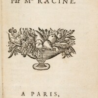 133. racine. iphigénie. paris, claude barbin, 1675. in-12. veau de l'époque. edition originale.
