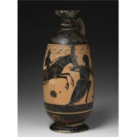 33. an attic black-figured lekythos, attributed to the gorgon painter, circa 560-550 b.c.