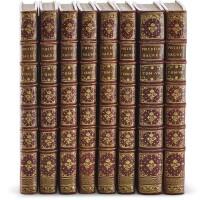 25. scheuchzer, physique sacrée, amsterdam, 1732-1737, 8 volumes, red morocco gilt