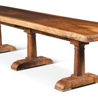 11. a walnut refectory table, late 19th century |