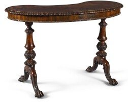 154. a william iv gonçalo alves kidney-shaped writing table, circa 1830, attributed to gillows |