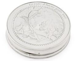 5. an english silver circular snuff box, early 18th century