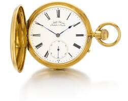 33. adolf schneider, glashütte & dresden | a gold hunting cased keyless lever watchcirca 1870, no. 1725