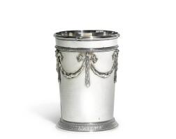 348. a fabergé silver beaker, workmaster anders (antii) nevalainen, st petersburg, 1899-1904