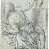 7. venetian or ferrarese school, first half of the 16th century | an allegorical figure, possibly an astronomer, his right hand pointing to a tablet