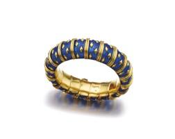 4. 黃金配琺瑯彩手鏈, schlumberger