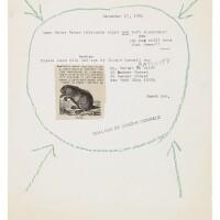 104. ray johnson (1927 - 1995)   dear betsy baker, december 17, 1984