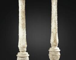 4. paire de porte-torchères en marbre blanc, travail italien, probablement par giovanni francesco ferrari (1489 - vers 1547)